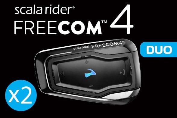 מערכת תקשורת זוגית לקסדה Cardo Scala Rider Freecom 4 Duo