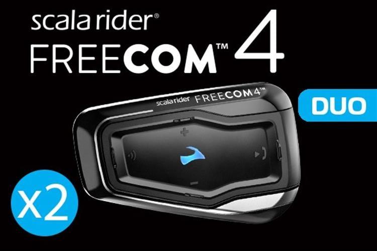 מערכת תקשורת זוגית לקסדה scala rider FREECOM 4 DOU
