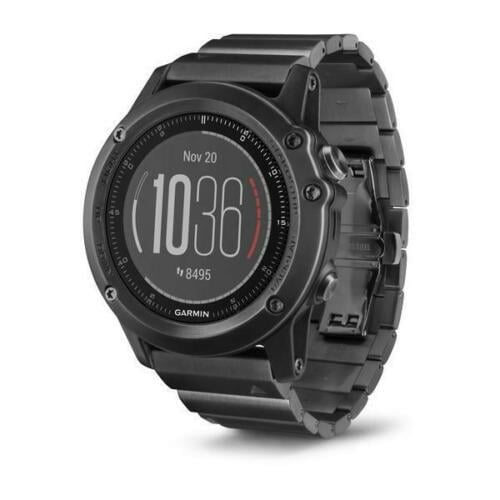 שעון ספורט Garmin Fenix 3 Sapphire HR with DLC Titanium Wristband