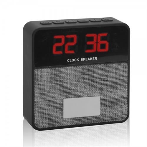 רמקול בטכנולוגיית בלוטוס' עם שעון תצוגה דיגיטלי