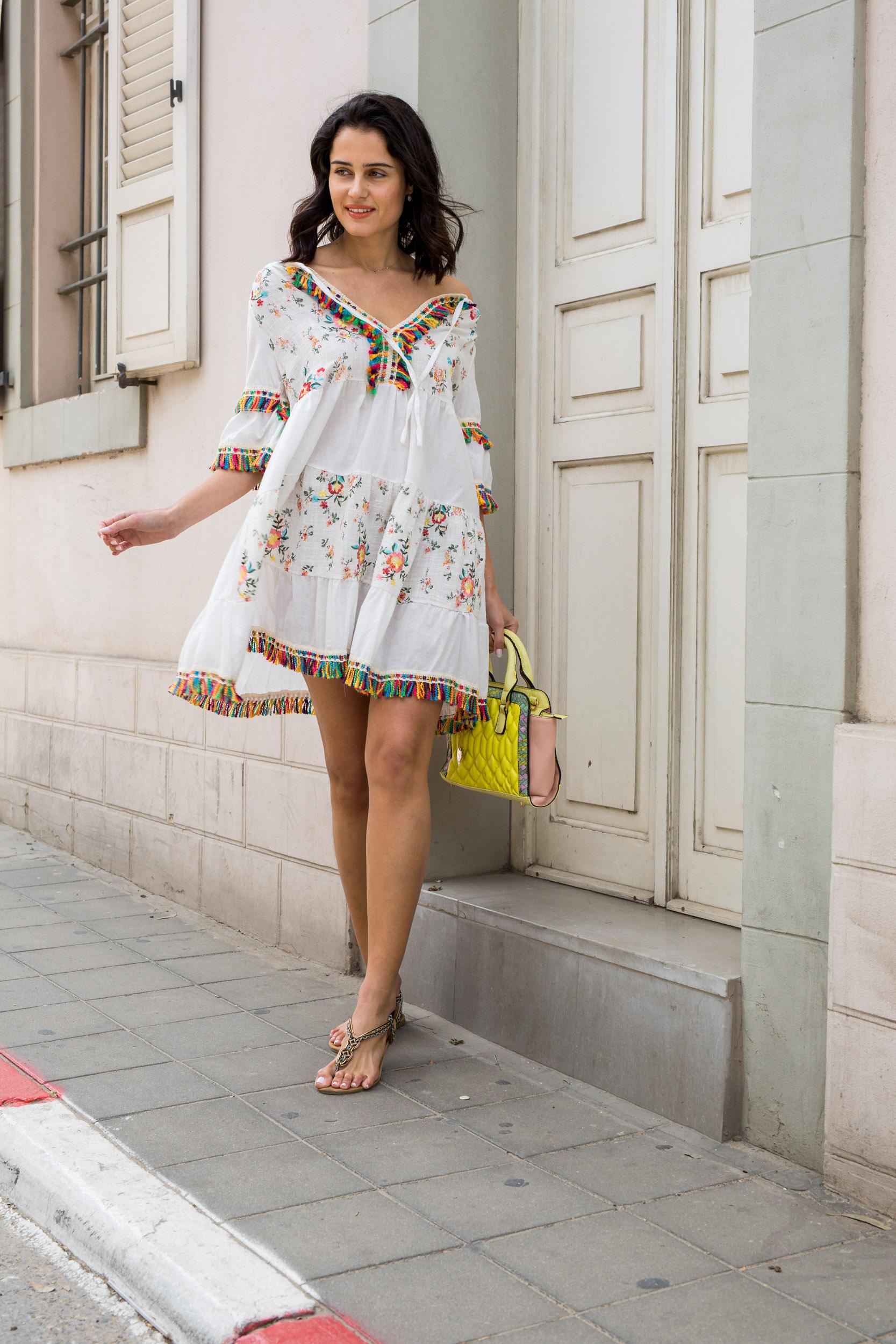 שמלה שילוב גדילים