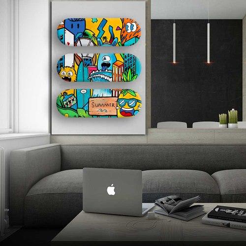 סט ארט בורדס צבעוניים להלבשת הבית של האמן כפיר תג'ר