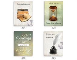 רביעיית תמונות ספרים, קסת דיו, שעון חול ומשפט השראה דגם041