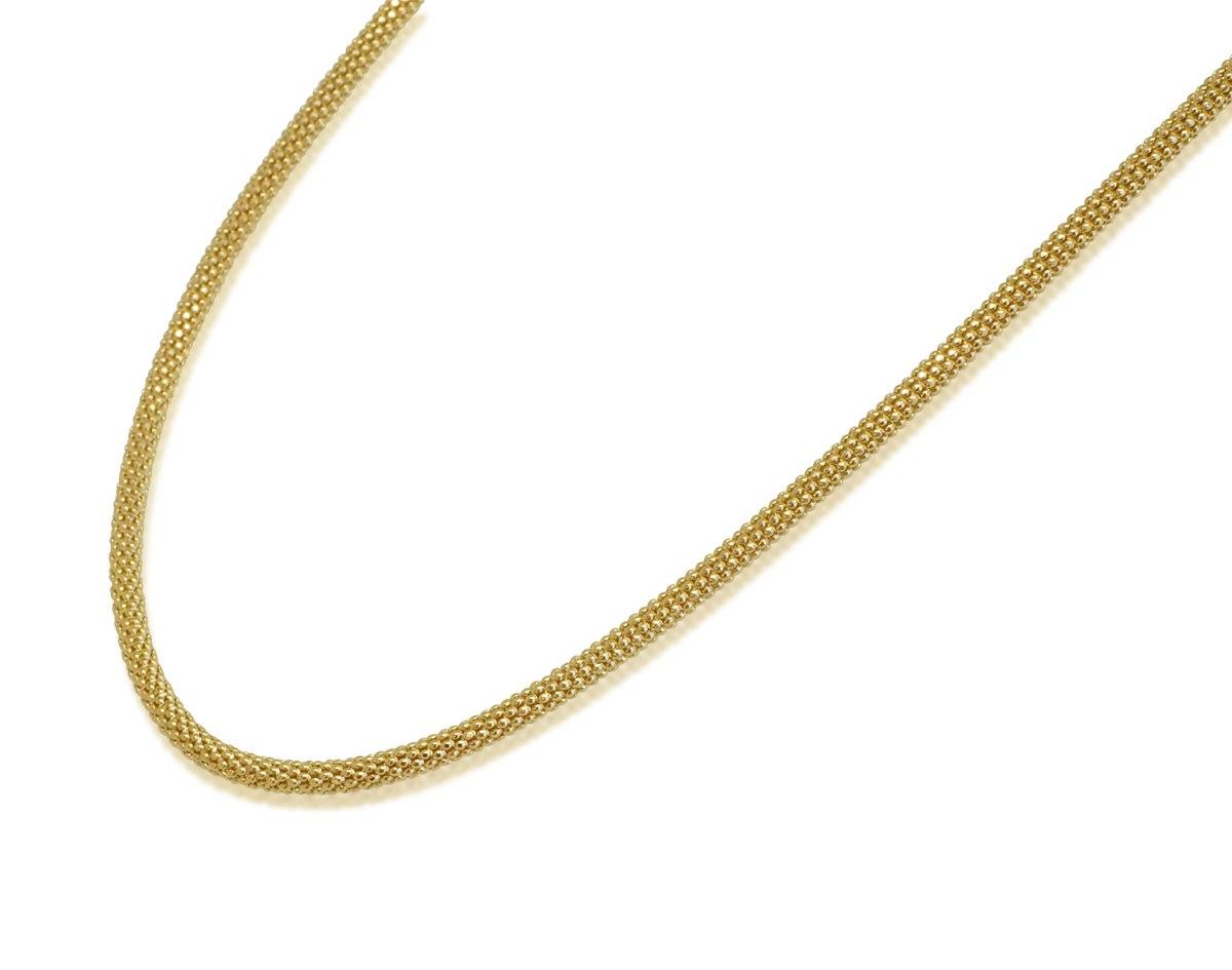 שרשרת זהב לאישה │ שרשרת פופקורן עגולה לאשה │ שרשראות זהב לנשים