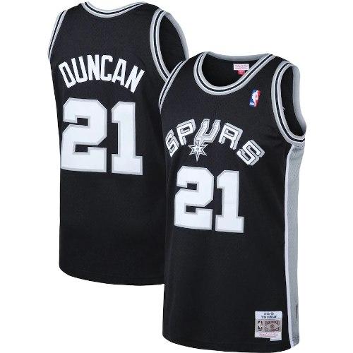 גופיית משחק NBA סן אנטוניו ספרס שחור - טים דאנקן