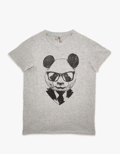 חולצת טריקו גברים מודפס PANDA