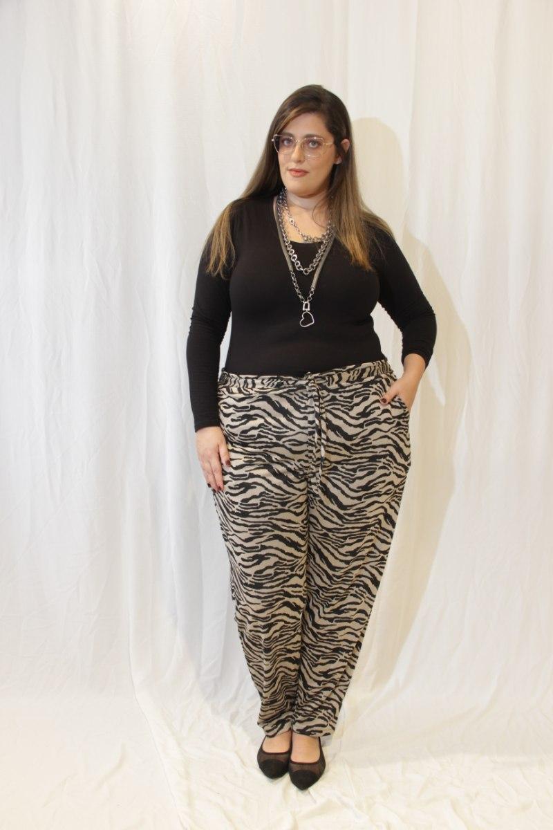 מכנסיי ריקו זברה בז׳