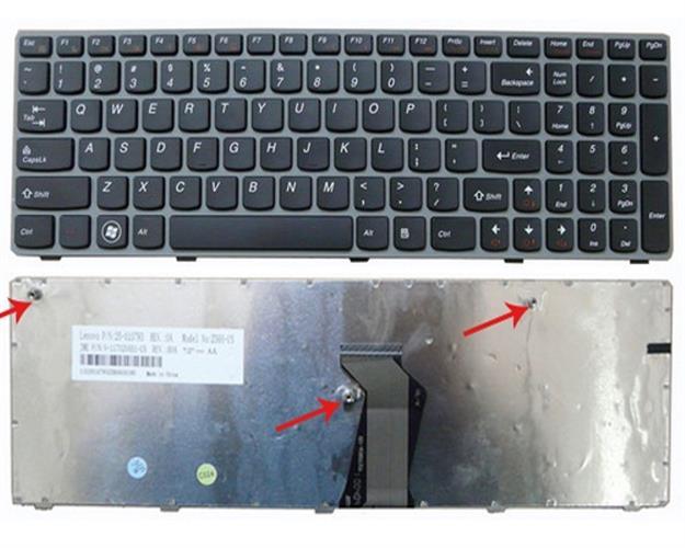 מקלדת להחלפה במחשב נייד לנובו Lenovo IdeaPad Z560 Keyboard 25-010793, V-117020AS1, V-117020AS1-US