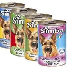 """מגש שימורים סימבה לכלב 400 גרם 24 י""""ח - SIMBA"""
