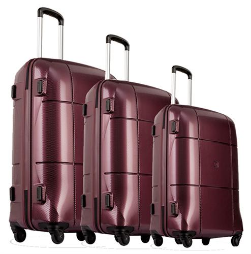 סט 3 מזוודות אקולק קשיחות Echolac SQUARE