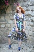 שמלת ג'ינגר פרחים