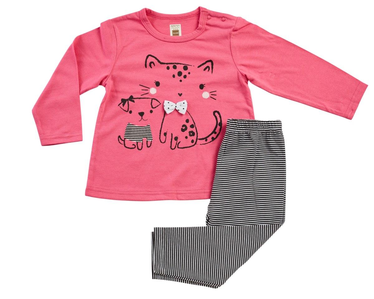 חליפת מעבר חתול ורוד מכנס לייקרה