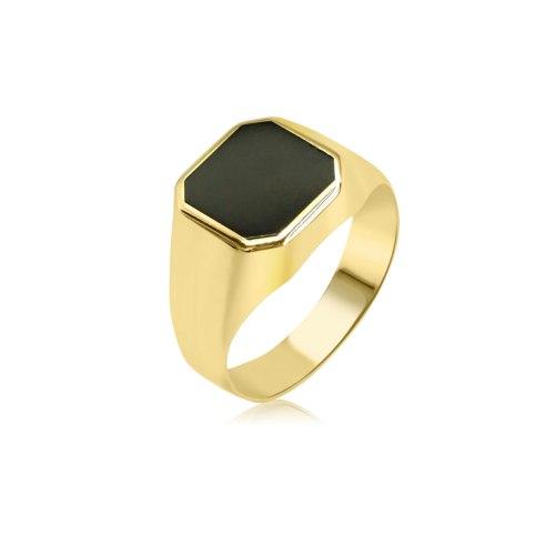 טבעת לגבר טבעות בשילוב אמייל