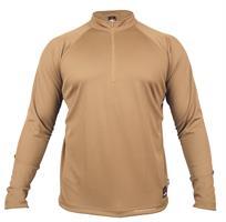 חולצת אימון קיצית טקטית ללוחם  1/4 ZIP  מדי  אימון ולחימה צבע חום  דגם 76 Keela