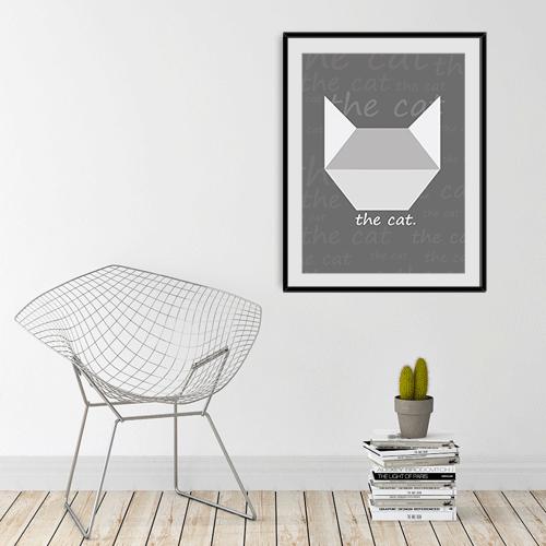 הדפס the cat