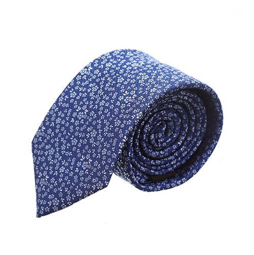עניבה פרחים קטנים כחול