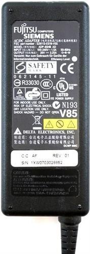 מטען מקורי פוגיטסו Fujitsu Siemens 20v 3.25A (Original)