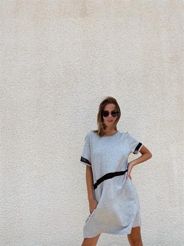 שמלת סו טריקו אפורה