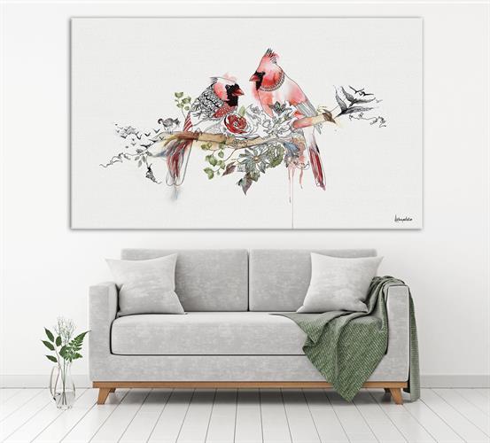 תמונה גדולה בסלון