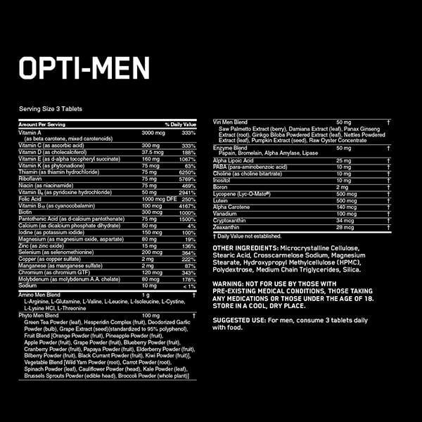 OPTI MAN   אופטי מן 150 כמוסות