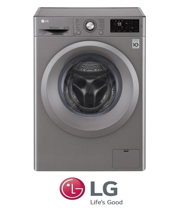 """מכונת כביסה פתח חזית 8 ק""""ג LG F-0812WS  דגם 2017"""