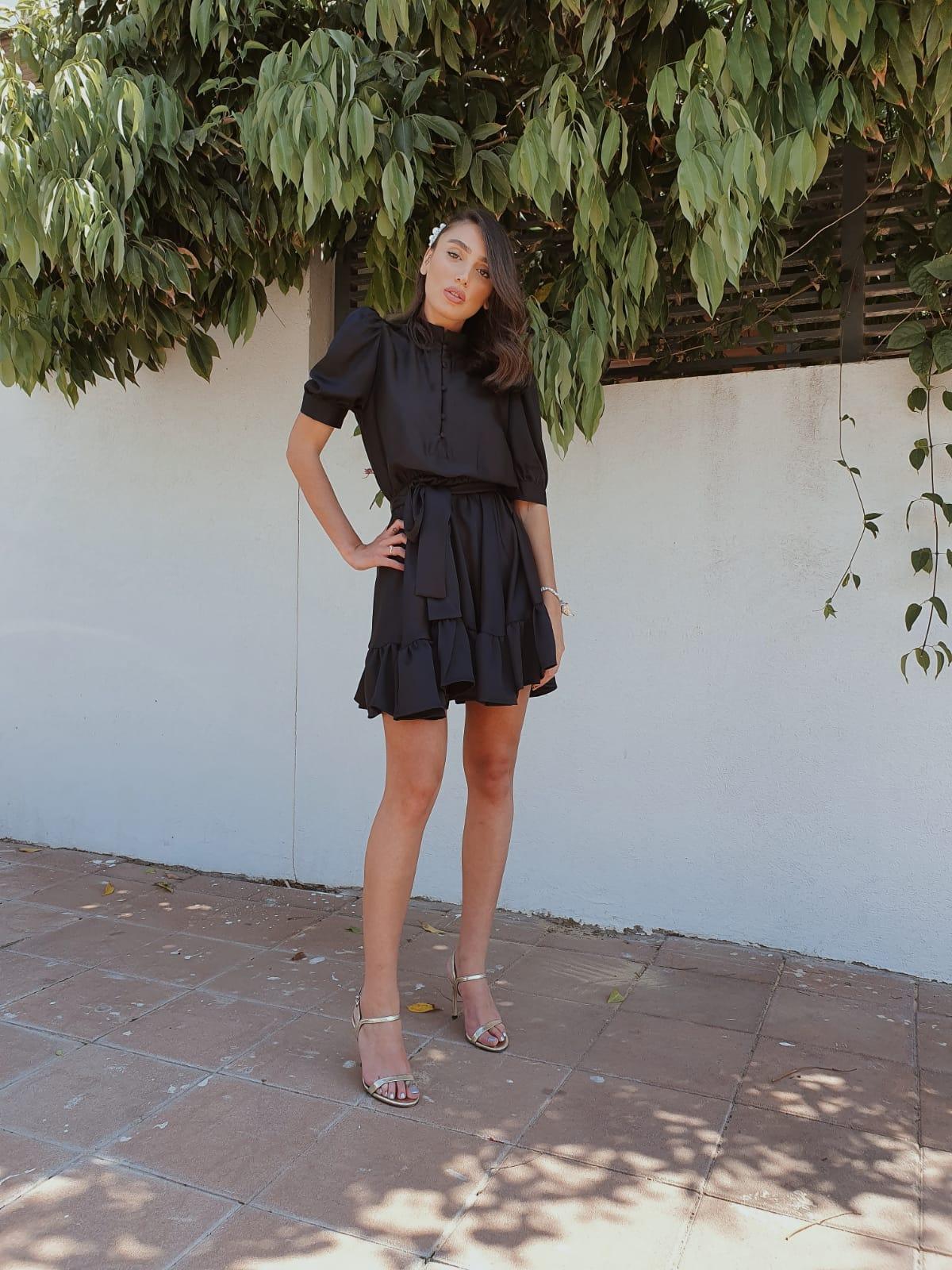שמלת ורסאי - שחורה