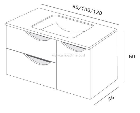ארון גל אמבטיה תלוי
