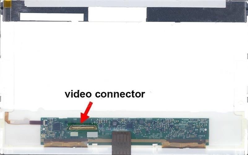 החלפת מסך למחשב נייד LG LP101WSA-TLN1 , LP101WSA(TL)(N1) 1024X600 Glossy LCD Screen Panel