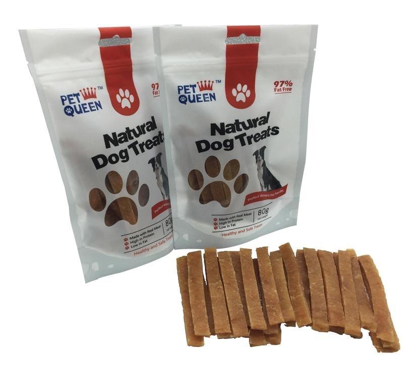 חטיף לכלב ללא דגנים – רצועות עוף 80 גרם