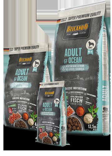 """בלקנדו מזון כלבים גריין פרי אושן דגי ים 12.5 ק""""ג"""