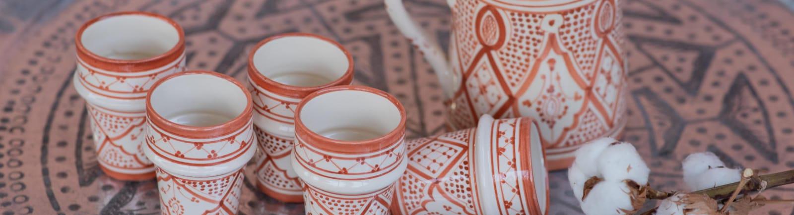 כלים חמרה לבן - פנטזיה מרוקאית