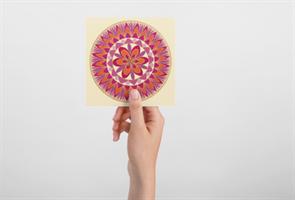 """מגנט אומנותי - """"מנדלת האהבה"""" - מנדלה מקורית בעבודת יד מודפסת על מגנט"""