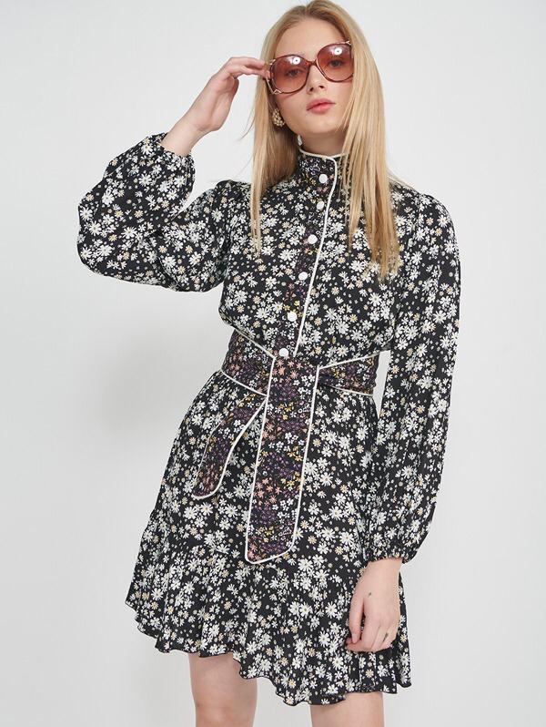 שמלת מולי שילוב שחור
