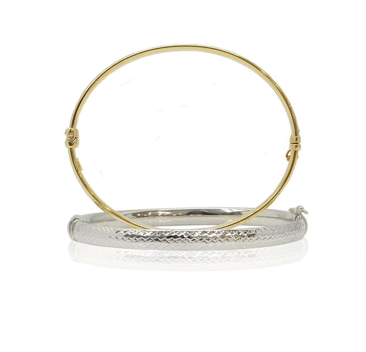 צמיד בנגל זהב (קשיח) עם חיתוך לייזר , צמיד מרשים