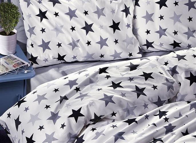 סט מלא  מתכוננת דגם כוכבים באפור