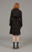 מעיל טראנץ׳ שחור
