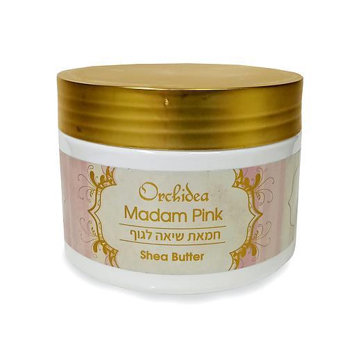 """-- חמאת שיאה לגוף Madam Pink -- מכיל  350 מ""""ל  אורכידאה"""