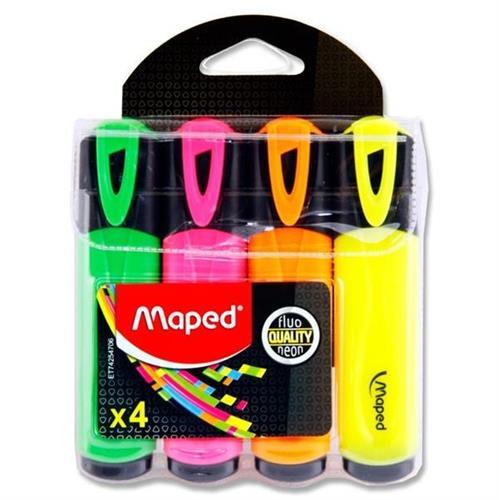 סט 4 מדגשים צבעי נאון - Maped