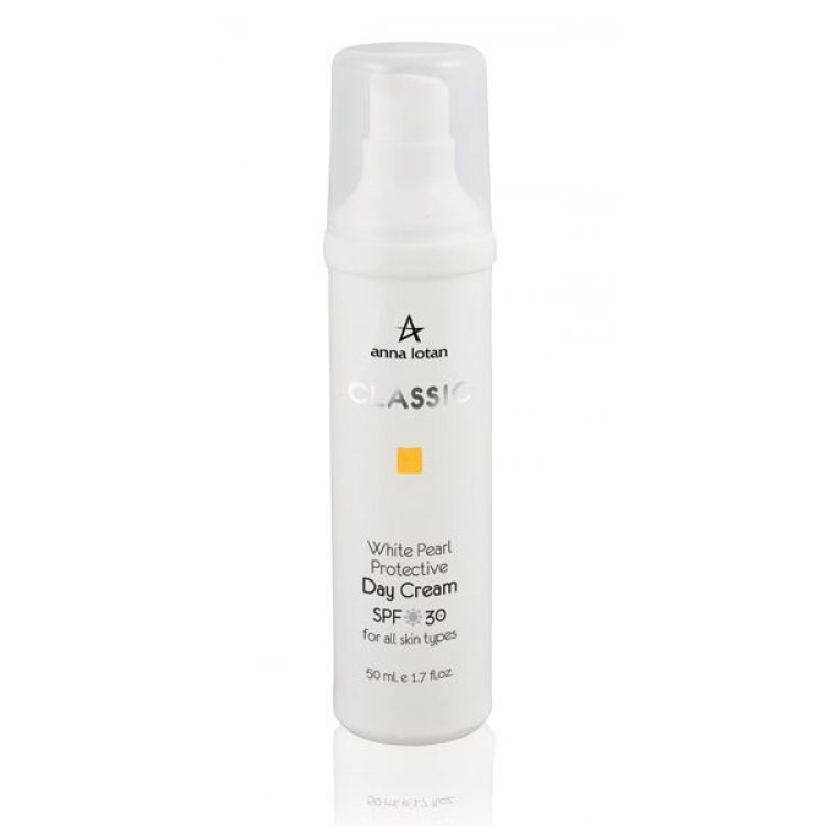 Anna Lotan Classic White Pearl Protective Day Cream - אנה לוטן קלאסיק פנינה לבנה קרם הגנה לחותי