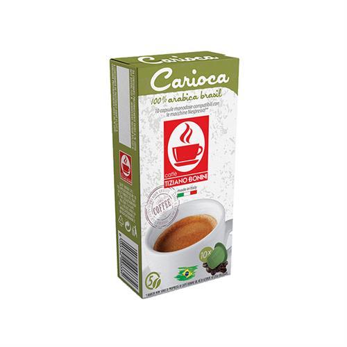 10 קפסולות קפה בוניני Carioca תואם נספרסו - חוזק 5