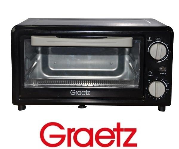Graetz טוסטר אובן 12 ליטר שחור דגם OT1210