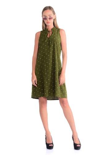 שמלת קייטלין זית כהה