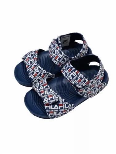 סנדלים כחולים עם לוגו FILA