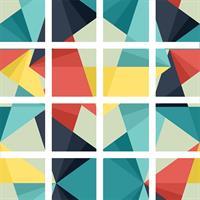 16 יח' טפט להדבקה על דלת כוורת  (KALLAX)- משולשים צבעוני