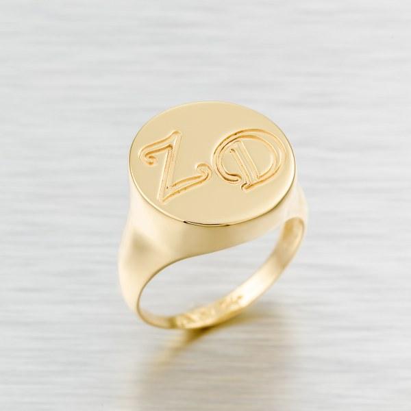 טבעת שם בעיצוב אישי גולדפילד 18 קראט