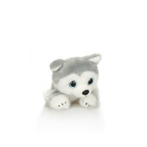 בובת הכלב שלי- האסקי סיבירי (אפור עם פנים לבנות)