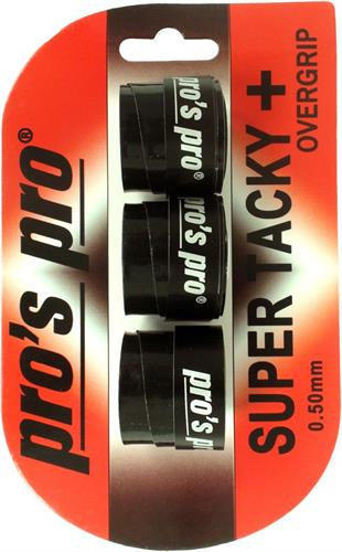 שלישיית גריפים pros pro SUPER TACKY PLUS 3pack black