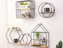 סט מדפים מודולריים דקורטיביים לעיצוב הבית