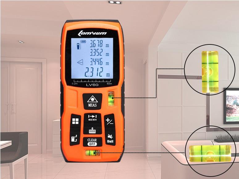 מד מקצועי עם לייזר למדידת בתים,דירות מעולה למתווכים,מהנדסי בניין