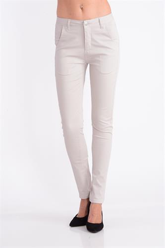 מכנס כותנה בצבע בז